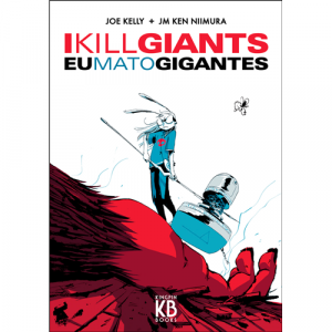 Capa do livro Eu Mato Gigantes, de Joe Kelly e JM Ken Niimura. Kingpin Books