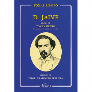 Capa do livro D. Jaime, Poema de Tomás Ribeiro. Europress - Heuris