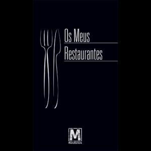 Capa do livro Os Meus Restaurantes. Editora Manufactura