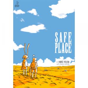 Capa do livro Safe Place, de André Pereira e Paula Almeida. Kingpin Books