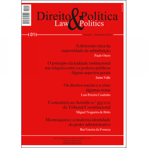 Capa da revista Direito & Política Nº1, Revista Trimestral de Grande Informação. Diário de Bordo