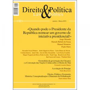 Capa da revista Direito & Política Nº2, Revista Trimestral de Grande Informação. Diário de Bordo