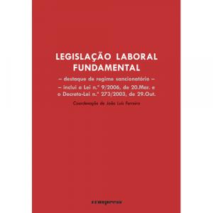 Capa do livro Legislação Laboral Fundamental, coordenação de João Luís Ferreira. Europress - Progresso do Direito