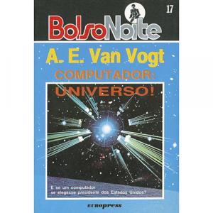 Capa do livro Computador: Universo!, de A. E. Van Vogt. Europress - BolsoNoite