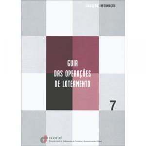 Capa do livro Guia das Operações de Loteamento. DGOTDU - Coleção Informação
