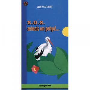 Capa do livro S.O.S. Animais em Perigo, de Luísa Ducla Soares. Europress - O Índio Maluco