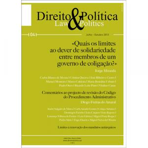 Capa da revista Direito & Política Nº4, Revista Trimestral de Grande Informação. Diário de Bordo