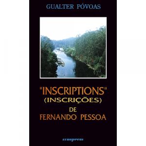 """Capa do livro """"Inscription"""" (Inscrições) de Fernando Pessoa, de Gualter Póvoas. Europress - Europavizinha"""