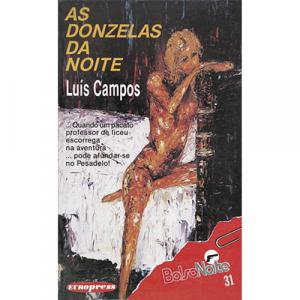 Capa do livro As Donzelas da Noite, de Luís Campos. Europress - BolsoNoite
