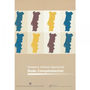 Capa do livro Sistema Urbano Nacional - Rede Complementar. DGOTDU