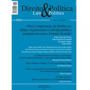 Capa da revista Direito & Política Nº3, Revista Trimestral de Grande Informação. Diário de Bordo
