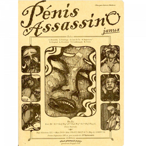 Capa do livro Pénis Assassino, de Janus. Chili com Carne