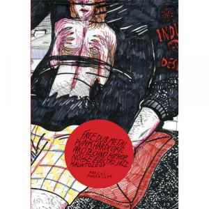 Capa do livro Free Dub Metal Punk Hardcore Afro Techno Hip Hop Noise Electro Jazz Hauntology, de Marcos Farrajota. Chici com Carne