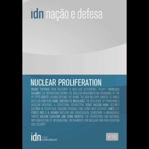Capa do livro Nuclear Proliferation - Nação e Defesa nº140. Instituto da Defesa Nacional