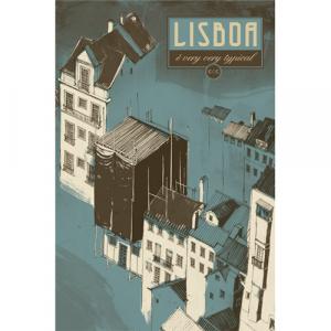 Capa do livro Lisboa é Very Very Typical. Chili com Carne