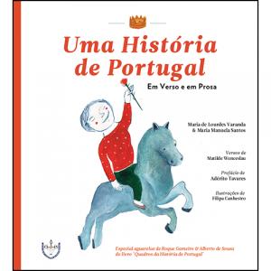 Capa do livro Uma História de Portugal em Verso e em Prosa, de Maria de Lourdes Varanda e Maria Manuela Santos. Escritório Editora