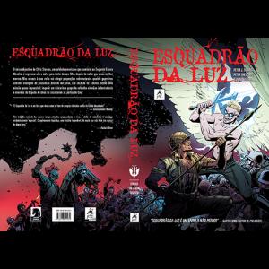 Capa e contracapa do livro Esquadrão da Luz, de Peter J. Tomasi e Peter Snejbjerg