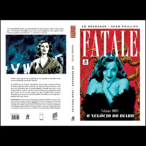 Capa e contracapa do livro Fatale Volume Dois - O Negócio do Diabo, de Ed Brubaker e Sean Phillips