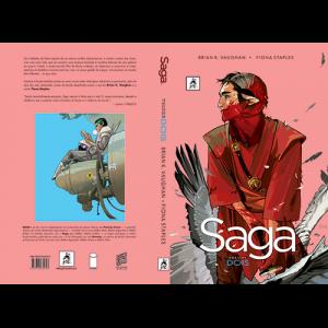 Capa e contracapa do livro Capa e contracapa do livro Saga Volume Dois, de Brian K. Vaughan e Fiona Staples. G. Floy Editora