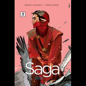 Capa do livro Saga Volume Dois, de Brian K. Vaughan e Fiona Staples. G. Floy Editora