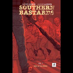 Capa do livro Southern Bastards Vol. 1 - Aqui Jaz um Homem de Jason Aaron e Jason Latour. G. Floy Editora