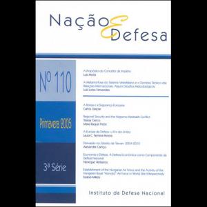 Capa da revista Nação & Defesa nº110. Instituto da Defesa Nacional