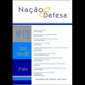 Capa da revista Nação & Defesa nº112. Instituto da Defesa Nacional