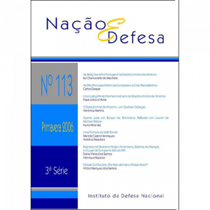 Capa da revista Nação & Defesa nº113. Instituto da Defesa Nacional