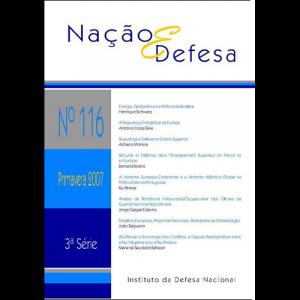 Capa da revista Nação & Defesa nº116. Instituto da Defesa Nacional