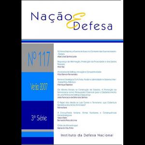 Capa da revista Nação & Defesa nº117. Instituto da Defesa Nacional