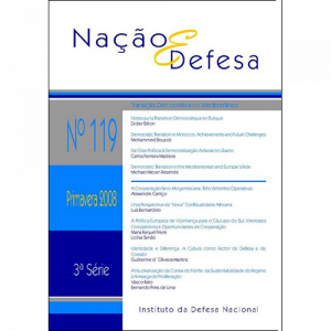 Capa do livro Nação & Defesa nº119 - Transição Democrática no Mediterrâneo. Instituto da Defesa Nacional