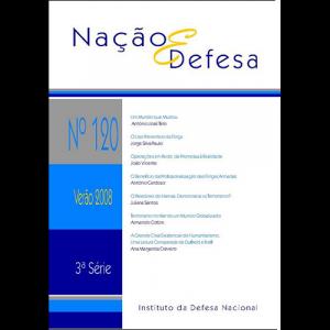 Capa da revista Nação & Defesa nº120. Instituto da Defesa Nacional