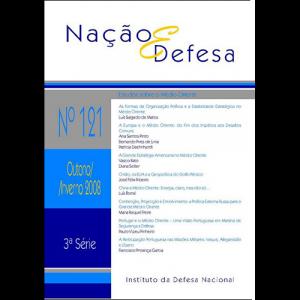 Capa da revista Nação & Defesa nº121 - Estudos Sobre o Médio Oriente. Instituto da Defesa Nacional