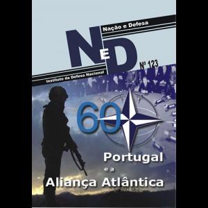 Capa do livro Nação & Defesa nº123 - Portugal e a Aliança Atlântica. Instituto da Defesa Nacional