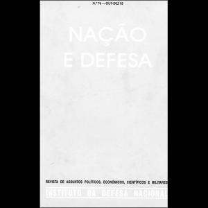 Capa da revista Nação & Defesa nº76. Instituto da Defesa Nacional