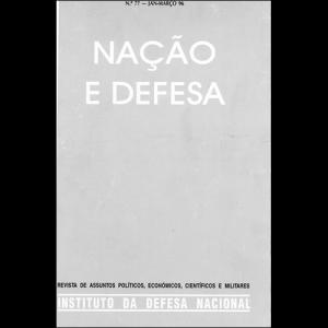 Capa da revista Nação & Defesa nº77. Instituto da Defesa Nacional