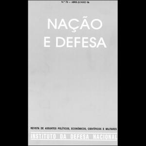 Capa da revista Nação & Defesa nº78. Instituto da Defesa Nacional