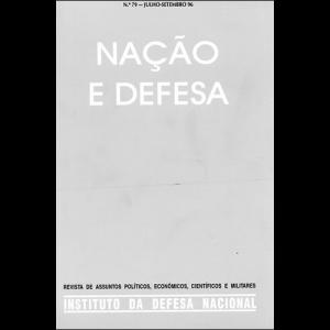 Capa da revista Nação & Defesa nº79. Instituto da Defesa Nacional