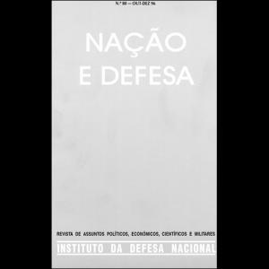 Capa da revista Nação & Defesa nº80. Instituto da Defesa Nacional