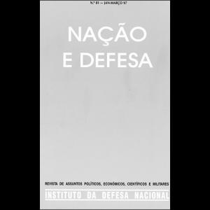 Capa da revista Nação & Defesa nº81. Instituto da Defesa Nacional