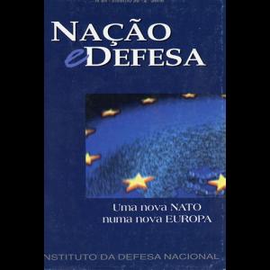 Capa da revista Nação & Defesa nº84 - Portugal e o Desafio Europeu. Instituto da Defesa Nacional