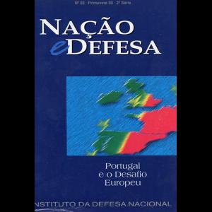 Capa da revista Nação & Defesa nº85 - Portugal e o Desafio Europeu. Instituto da Defesa Nacional