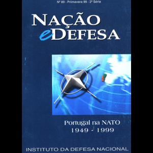 Capa da revista Nação & Defesa nº89 - Portugal na NATO 1949 - 1999. Instituto da Defesa Nacional