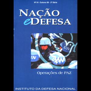Capa da revista Nação & Defesa nº91 - Operações de Paz. Instituto da Defesa Nacional