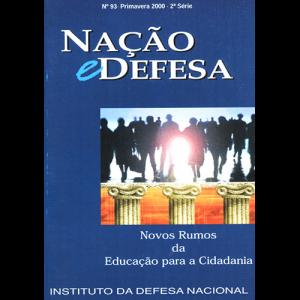 Capa da revista Nação & Defesa nº93 - Novos Rumos da Educação para a Cidadania. Instituto da Defesa Nacional