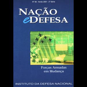 Capa da revista Nação & Defesa nº98 - Forças Armadas em Mudança. Instituto da Defesa Nacional