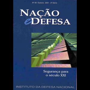 Capa da revista Nação & Defesa nº99 - Segurança para o Século XXI. Instituto da Defesa Nacional