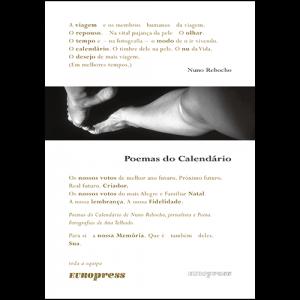 Capa do livro Poemas do Calendário, de Nuno Rebocho. Europress Editora