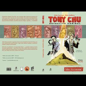 Capa e contracapa do livro Tony Chu: Detective Canibal. Volume Dois, Sabor Internacional, de John Layman e Rob Guillory
