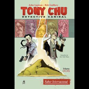 Capa do livro Tony Chu: Detective Canibal. Volume Dois, Sabor Internacional, de John Layman e Rob Guillory